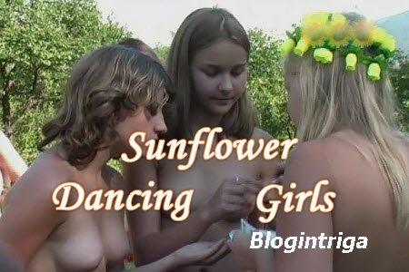 Sunflower dancing girls