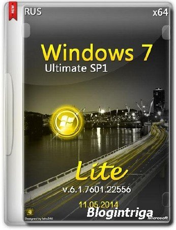 Windows 7 Ultimate SP1 х64 v.6.1.7601.22556 Lite (2014) RUS