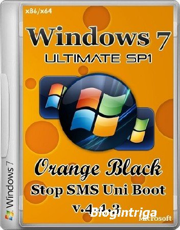 Windows 7 SP1 Ultimate 32bit+64bit OrBlack by Qmax v.4.4.3 (2014) Rus
