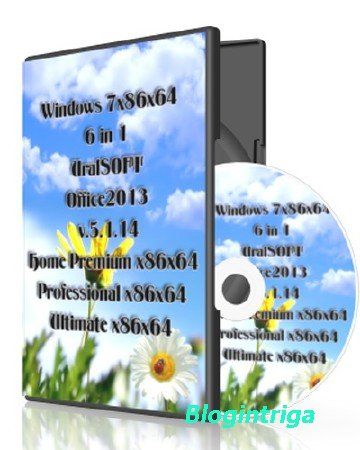 Windows 7x86x64 6 in 1 UralSOFT & Office2013 v.5.1.14