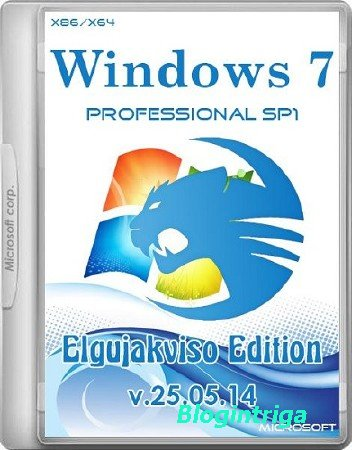 Windows 7 Professional SP1 Elgujakviso Edition v.25.05.14 (x86/x64/RUS/2014 ...