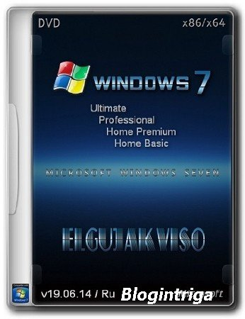 Windows 7 SP1 4in1 (x86/x64) Elgujakviso Edition (v19.06.14) Ru