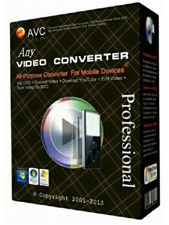 Any Video Converter Professional 5.8.4