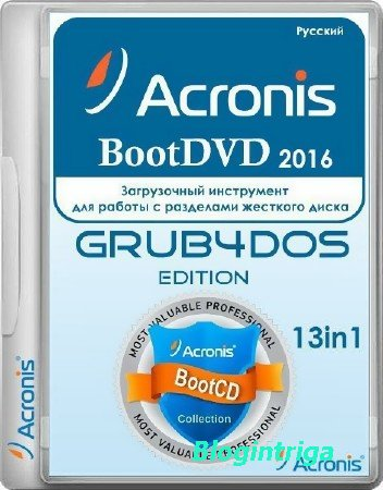Acronis BootDVD 2016 Grub4Dos Edition 43 (9/20/2016) 13 in 1