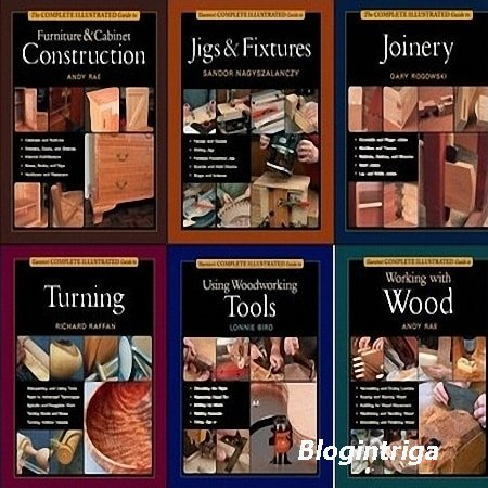 Taunton's The Complete Illustrated Guide Collection to Woodworking (14 кни ...