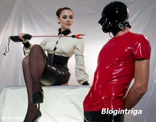 Chanel Preston - Chanel Prestons Divine Latex: Rubber slave boy Teased and  ...
