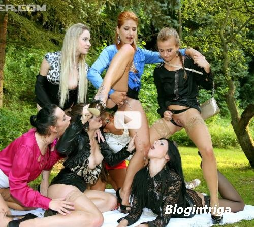 Mona Lee, Lucy Bell, Isabella Chrystin, Chaynee, Alyssia Loop, Bella Baby, Terra Sweet - Piss Bitch In The Middle, Part 1