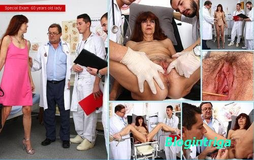 Lada - 60 years old lady gyno exam