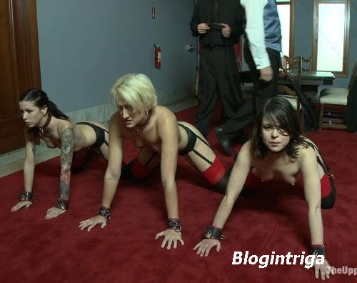 Dylan, Juliette March, Krysta Kaos - Beautiful SM slaves perform manual lab ...