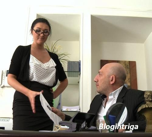 Vanessa - Secretary Take Down: Boss and Friends Tie her up and Fill her Pus ...