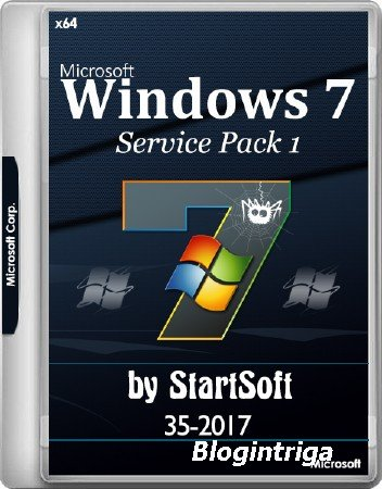 Windows 7 SP1 x64 Release By StartSoft 35-2017 (RUS/ENG/2017)