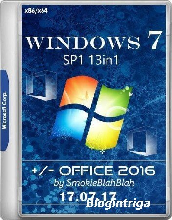 Windows 7 SP1 x86/x64 13in1 +/- Office 2016 by SmokieBlahBlah 17.07.17 (RUS ...