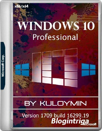 Windows 10 Pro Version 1709 x86/x64 by kuloymin v.10 ESD (RUS/2017)