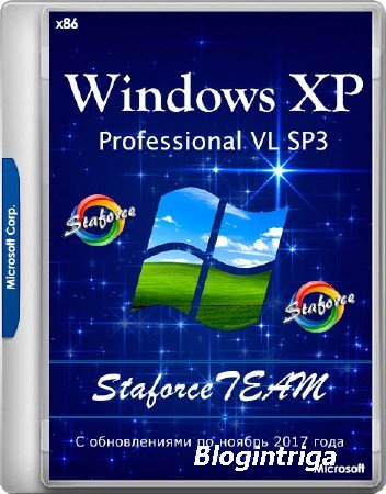 Windows XP Professional VL SP3 StaforceTEAM 27.11.2017 (x86/RUS)