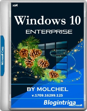 Windows 10 Enterprise v.1709.16299.125 by molchel (x64/RUS)