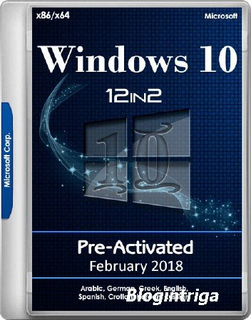 Windows 10 RS3 1709.16299.248 AIO x86/x64 12in2 Pre-Activated February 2018 ...