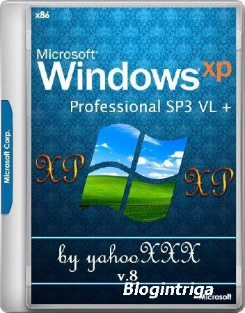 Windows XP Professional x86 SP3 VL v.8 by yahooXXX (2018/RUS/ENG)