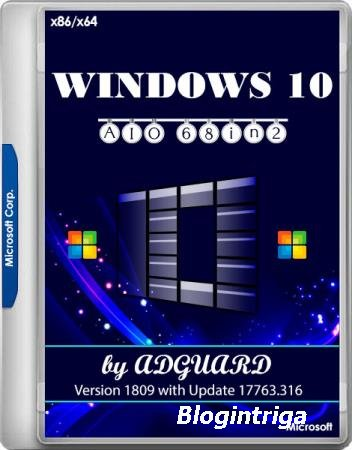 Windows 10 Version 1809 with Update 17763.316 AIO 68in2 x86/x64 by adguard v.19.02.13 (RUS/ENG)