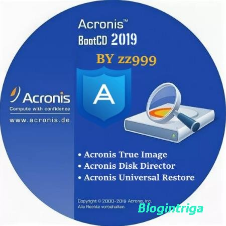 Acronis BootCD 2019 by zz999 2019.08